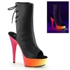 RAINBOW-1018UV-6 Black PU/Neon Multi